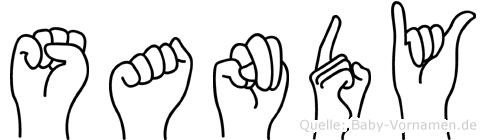 Sandy im Fingeralphabet der Deutschen Gebärdensprache
