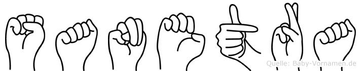 Sanetra im Fingeralphabet der Deutschen Gebärdensprache