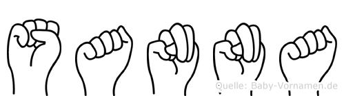 Sanna in Fingersprache für Gehörlose