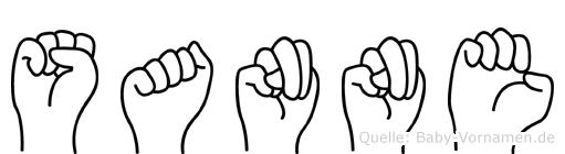 Sanne im Fingeralphabet der Deutschen Gebärdensprache