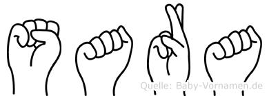 Sara in Fingersprache für Gehörlose