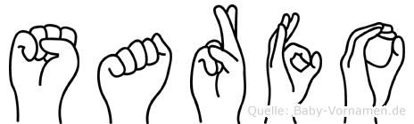 Sarfo im Fingeralphabet der Deutschen Gebärdensprache