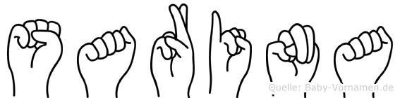Sarina in Fingersprache für Gehörlose