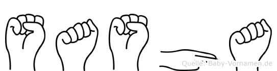Sasha in Fingersprache für Gehörlose