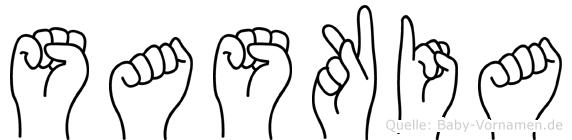 Saskia in Fingersprache für Gehörlose