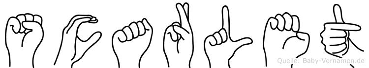 Scarlet in Fingersprache für Gehörlose