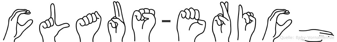 Claus-Erich im Fingeralphabet der Deutschen Gebärdensprache