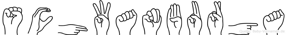 Schwanburga im Fingeralphabet der Deutschen Gebärdensprache