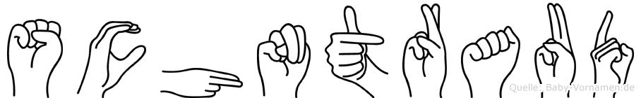 Schöntraud im Fingeralphabet der Deutschen Gebärdensprache