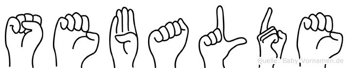 Sebalde in Fingersprache für Gehörlose