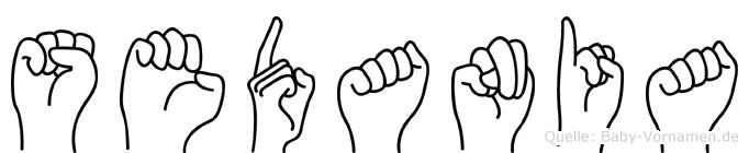 Sedania im Fingeralphabet der Deutschen Gebärdensprache