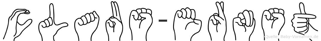 Claus-Ernst im Fingeralphabet der Deutschen Gebärdensprache