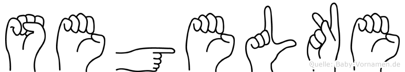 Segelke in Fingersprache für Gehörlose