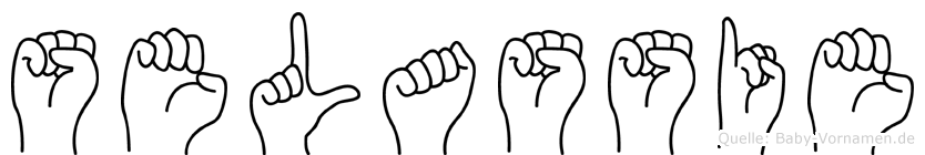Selassie im Fingeralphabet der Deutschen Gebärdensprache