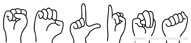 Selina in Fingersprache für Gehörlose