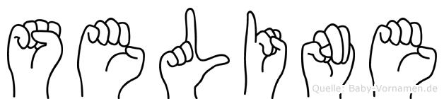 Seline im Fingeralphabet der Deutschen Gebärdensprache