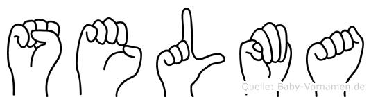 Selma in Fingersprache für Gehörlose