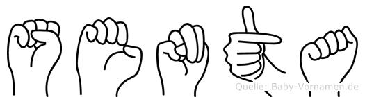 Senta in Fingersprache für Gehörlose