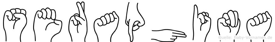 Seraphina im Fingeralphabet der Deutschen Gebärdensprache