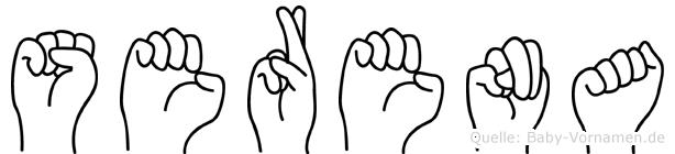Serena im Fingeralphabet der Deutschen Gebärdensprache
