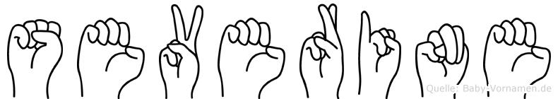 Severine in Fingersprache für Gehörlose