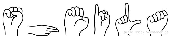 Sheila in Fingersprache für Gehörlose