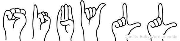 Sibyll in Fingersprache für Gehörlose