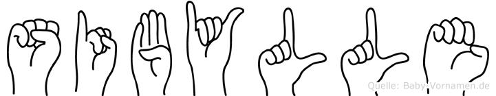 Sibylle im Fingeralphabet der Deutschen Gebärdensprache