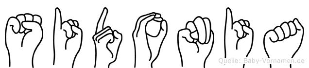 Sidonia in Fingersprache für Gehörlose