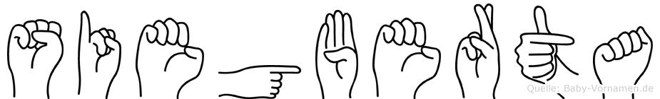 Siegberta im Fingeralphabet der Deutschen Gebärdensprache