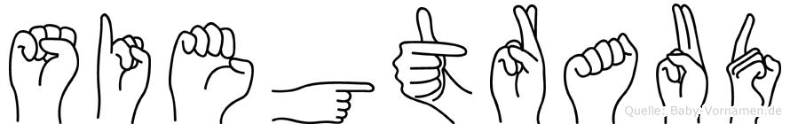 Siegtraud im Fingeralphabet der Deutschen Gebärdensprache