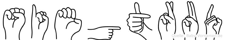 Siegtrud im Fingeralphabet der Deutschen Gebärdensprache