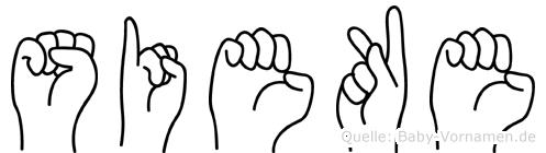 Sieke im Fingeralphabet der Deutschen Gebärdensprache