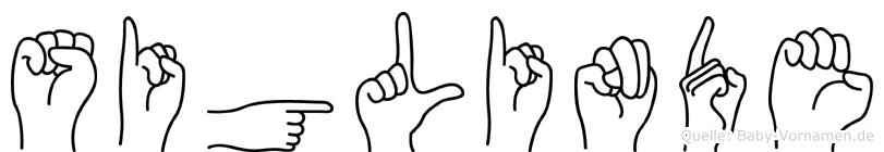 Siglinde im Fingeralphabet der Deutschen Gebärdensprache