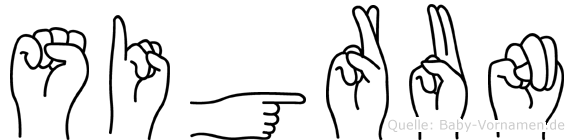 Sigrun in Fingersprache für Gehörlose