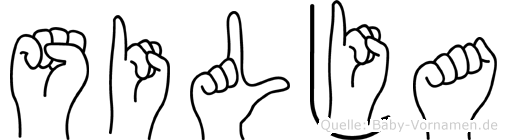 Silja im Fingeralphabet der Deutschen Gebärdensprache
