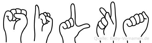 Silka in Fingersprache für Gehörlose