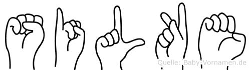 Silke in Fingersprache für Gehörlose