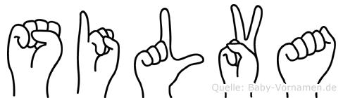 Silva in Fingersprache für Gehörlose