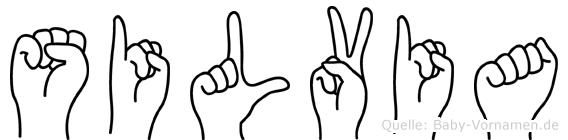 Silvia in Fingersprache für Gehörlose