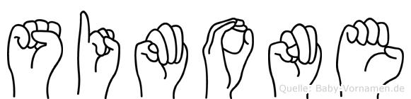 Simone im Fingeralphabet der Deutschen Gebärdensprache