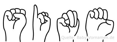 Sine in Fingersprache für Gehörlose