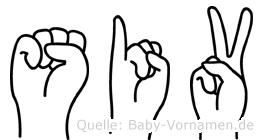 Siv in Fingersprache für Gehörlose