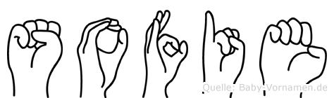 Sofie im Fingeralphabet der Deutschen Gebärdensprache