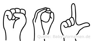 Sol im Fingeralphabet der Deutschen Gebärdensprache