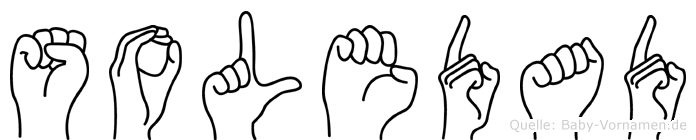 Soledad in Fingersprache für Gehörlose