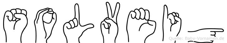 Solveig im Fingeralphabet der Deutschen Gebärdensprache