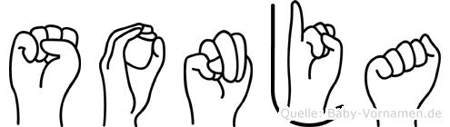 Sonja in Fingersprache für Gehörlose