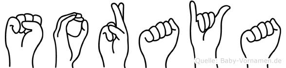 Soraya in Fingersprache für Gehörlose