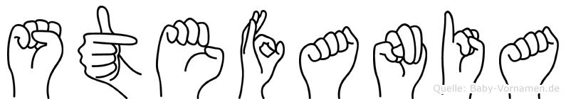 Stefania im Fingeralphabet der Deutschen Gebärdensprache